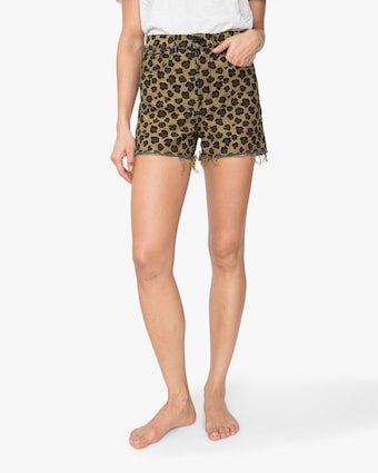 ASKK Leopard High-Rise Shorts 2