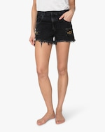 ASKK Leopard-Repair Boyfriend Shorts 1
