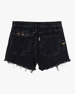 ASKK Leopard-Repair Boyfriend Shorts 2