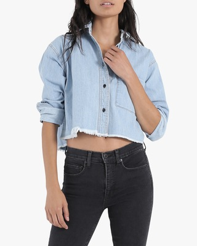 ASKK Cropped Denim Shirt 2