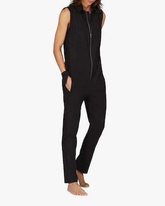 ASKK Black Zip-Front Jumpsuit 1