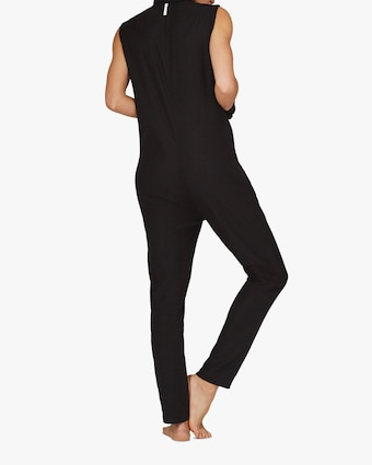 ASKK Black Zip-Front Jumpsuit 2