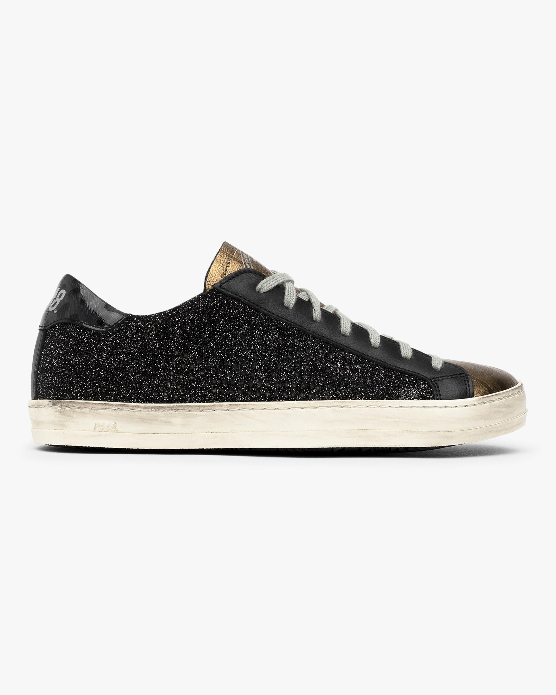 Black and Gold John Glitter Sneaker