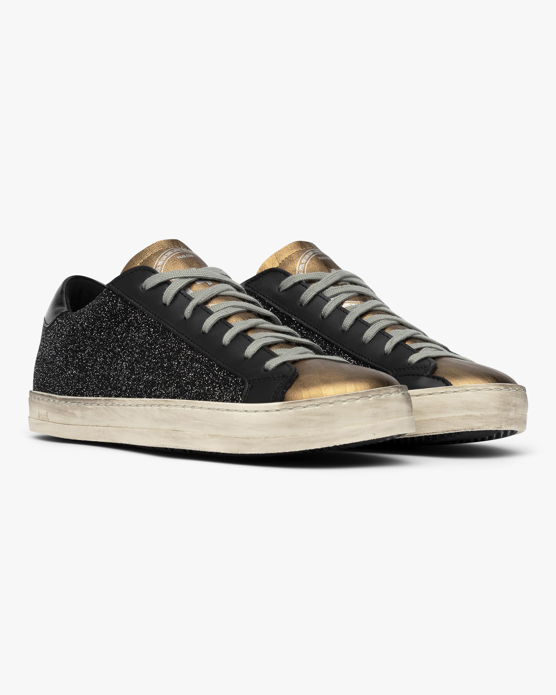 P448 Black and Gold John Glitter Sneaker 2