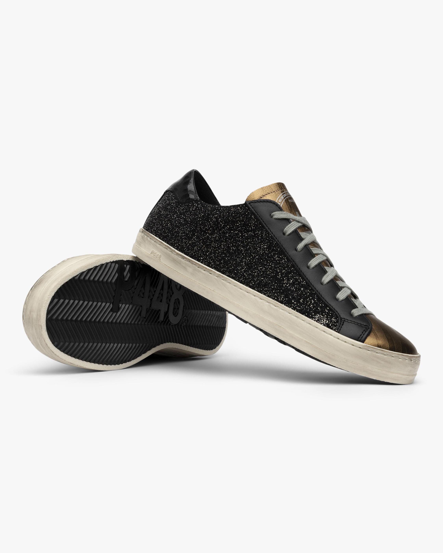 P448 Black and Gold John Glitter Sneaker 4