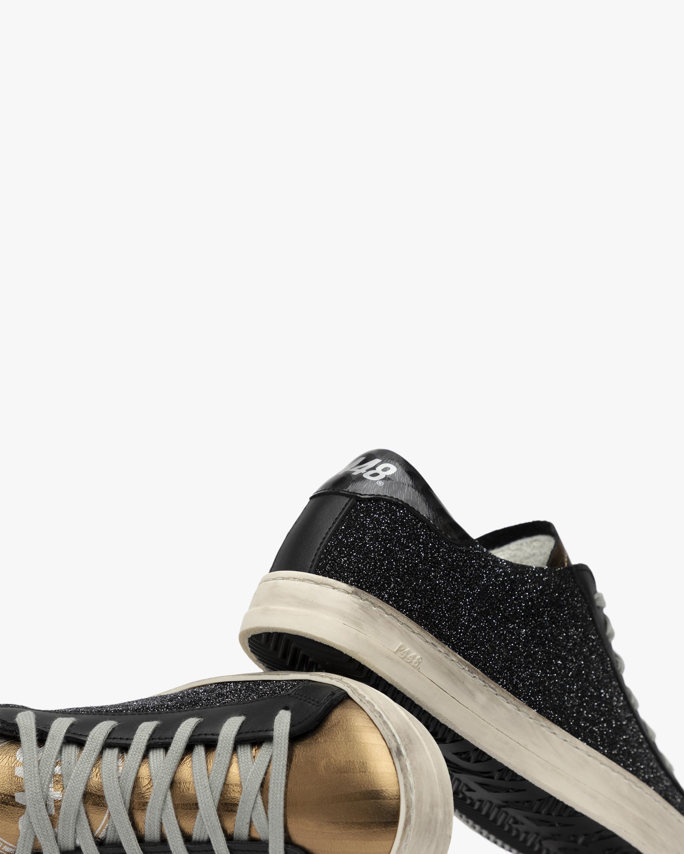 P448 Black and Gold John Glitter Sneaker 5