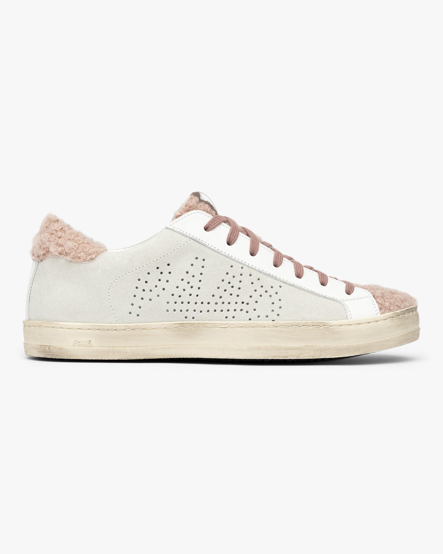 P448 Pink Fur John Sneaker 1