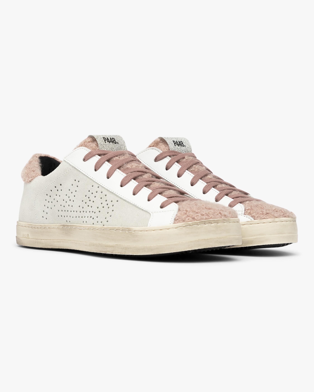 P448 Pink Fur John Sneaker 2