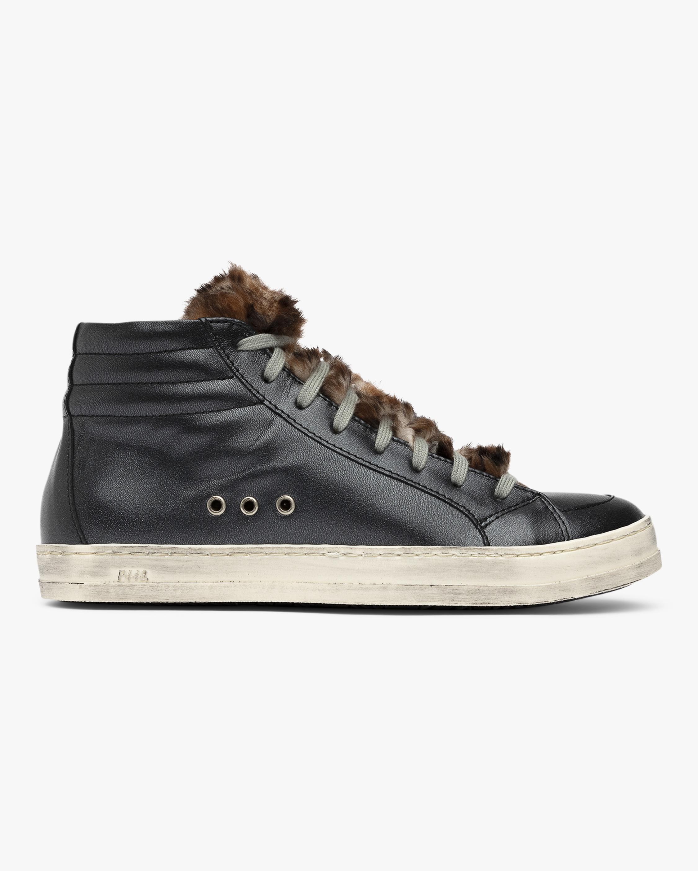 P448 Leopard Fur Skate High-Top Sneaker 0