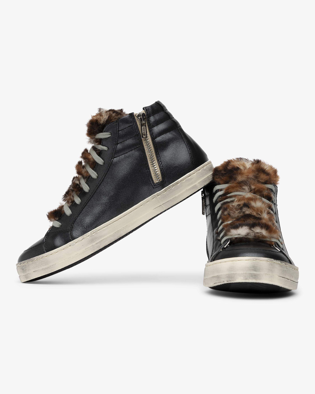 P448 Leopard Faux Fur Skate High-Top Sneaker 3