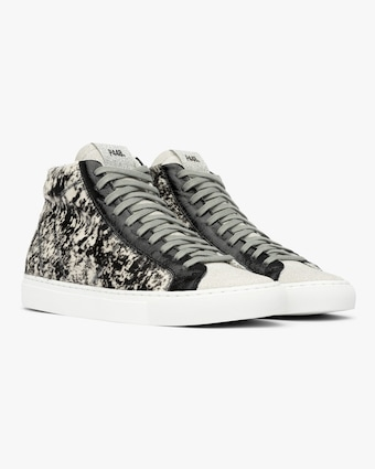 P448 Cow Print Star High-Top Sneaker 2