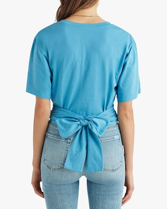 7 For All Mankind Folded Cuff Twisted Tee 2