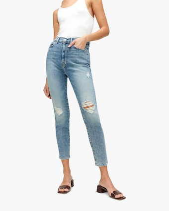 7 For All Mankind High-Waist Ankle Jeans 1