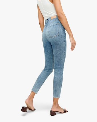 High-Waist Ankle Jeans