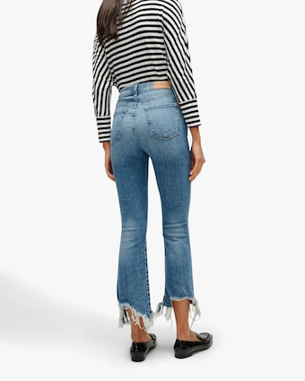 7 For All Mankind High-Waist Slim Kick Jeans 2