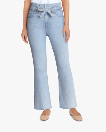 7 For All Mankind Alexa Cropped Paper Bag Pants 2