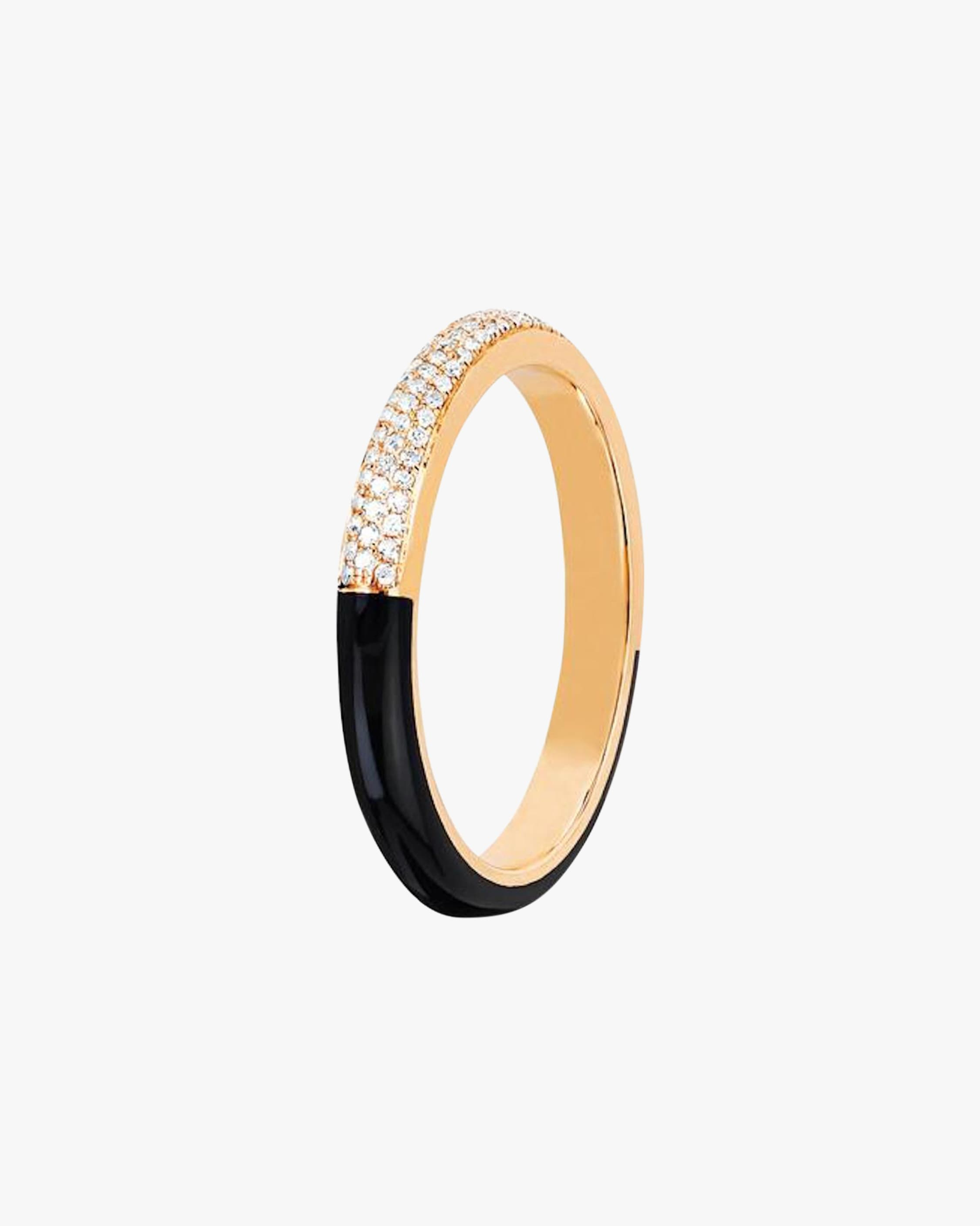 Ef Collection TWO-TONE DIAMOND RING