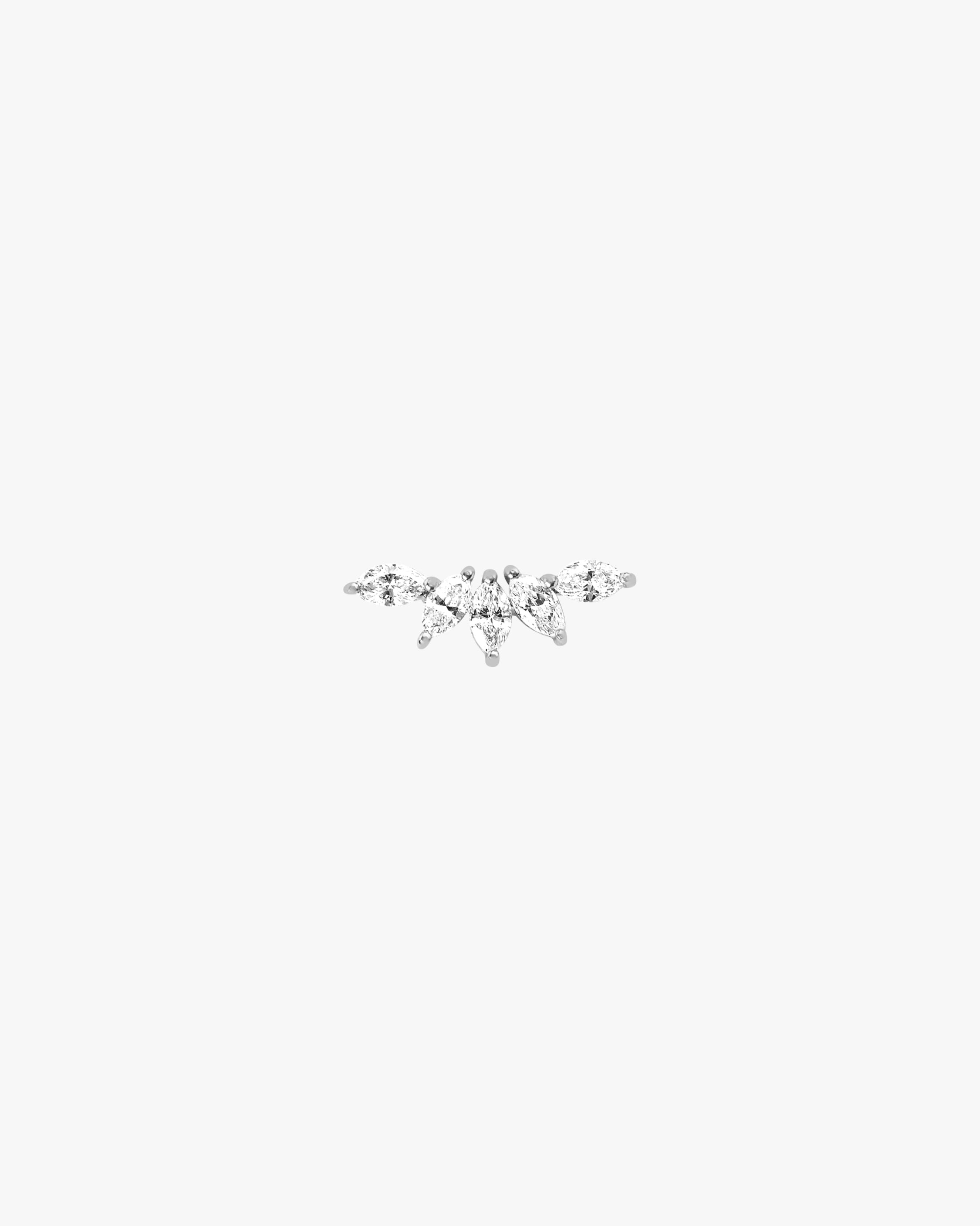 Ef Collection SINGLE MARQUISE DIAMOND FAN EARRING