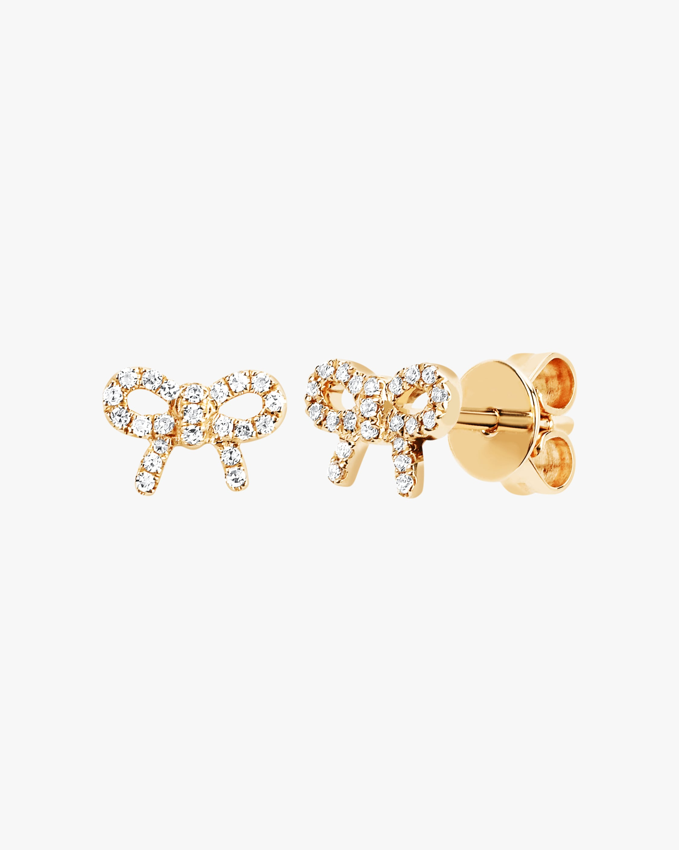 Ef Collection DIAMOND BOW STUD EARRINGS