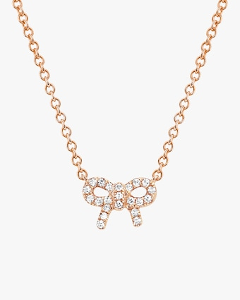 EF Collection Diamond Bow Pendant Necklace 1