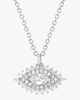 EF Collection Diamond Evil Eye Pendant Necklace 2