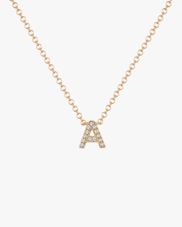 Diamond 'A' Initial Pendant Necklace