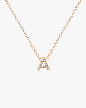 Diamond 'A' Initial Pendant Necklace