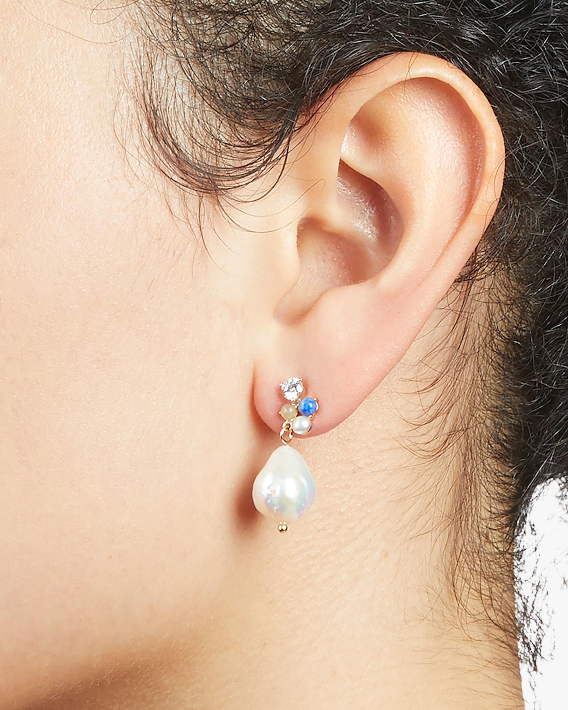Dona Cluster Drop Earrings