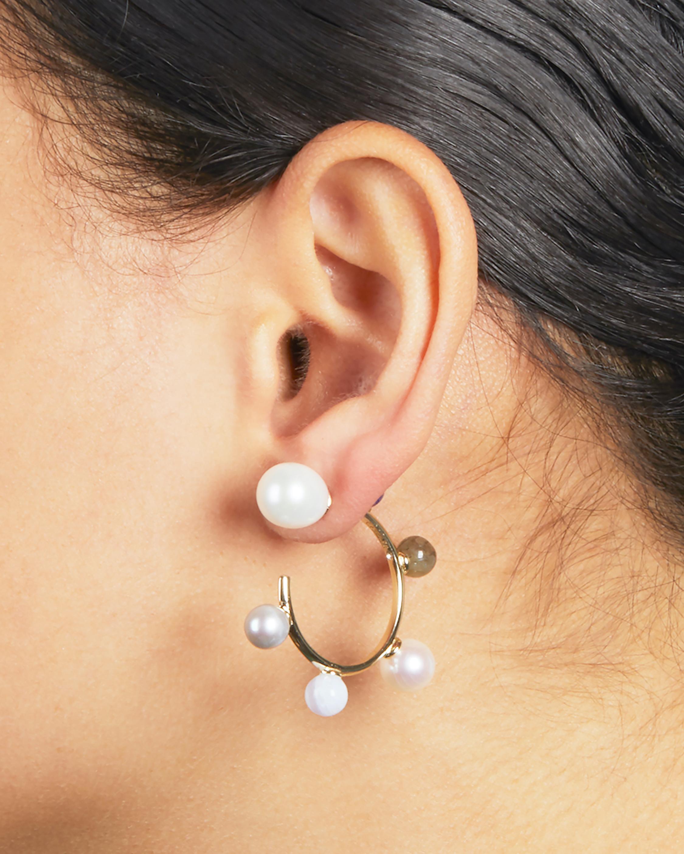 Carolee Dona Mini Hoop Earrings 2