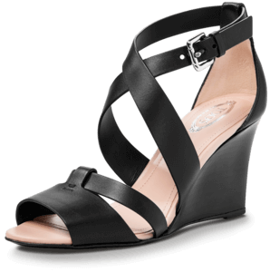 Wedge Sandal in Leather image two