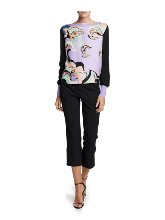 Edie Print Pull Over Sweater