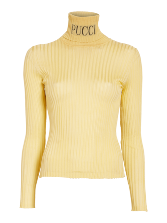 Ribbed Logo Turtleneck