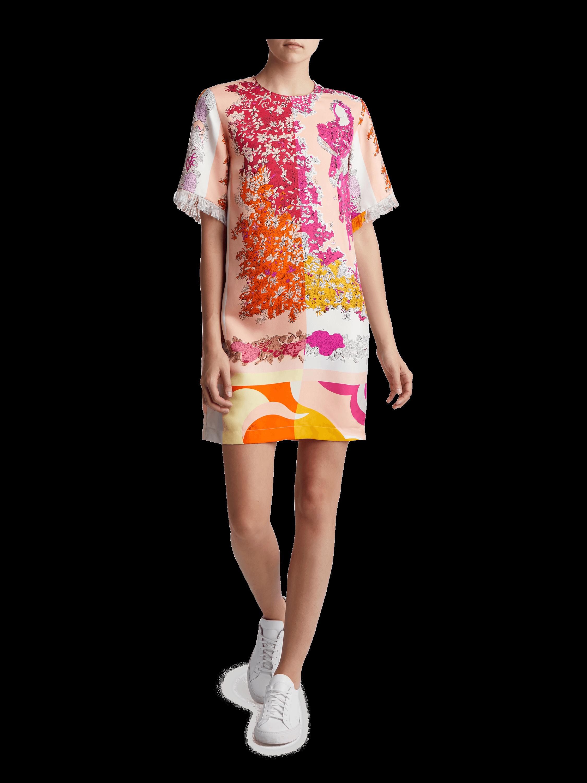 Primavera Silk Twill Shift Dress