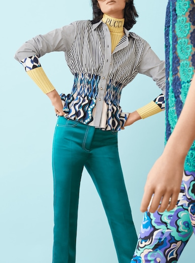 Button Down Top With Smocking Detail