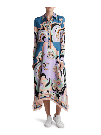 Edie Print Asymmetrical Dress
