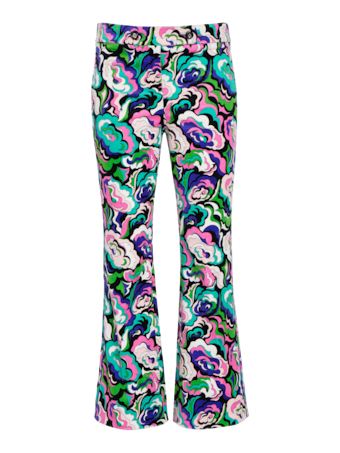 Micro Pop Flower Cropped Trousers