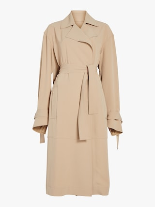 Wrap Sleeve Fluid Trench Coat