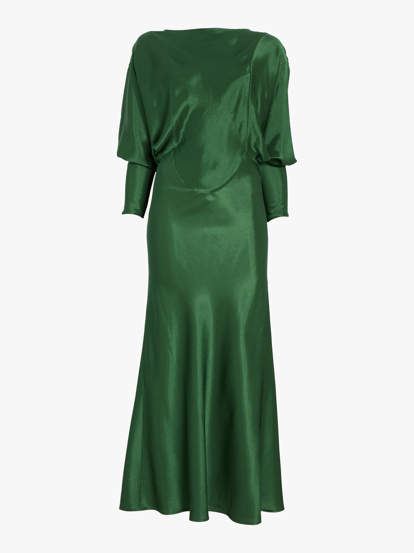 Open Back Drape Sleeve Dress