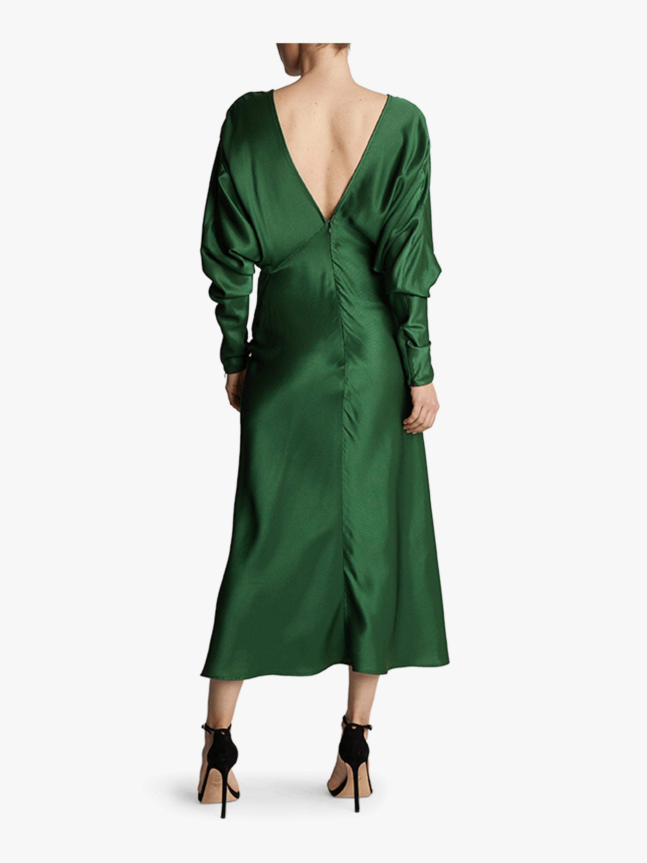 Victoria Beckham | Open Back Drape Sleeve Dress | Olivela