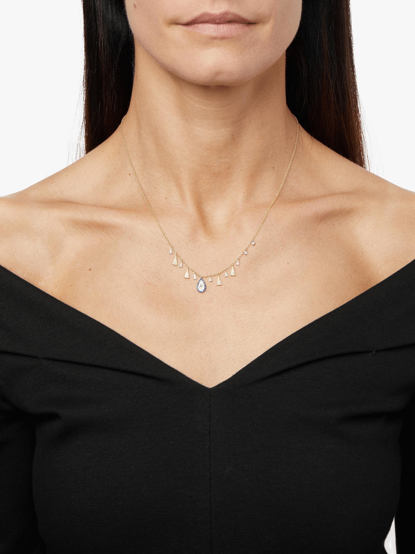 Gold Evil Eye Charm Necklace