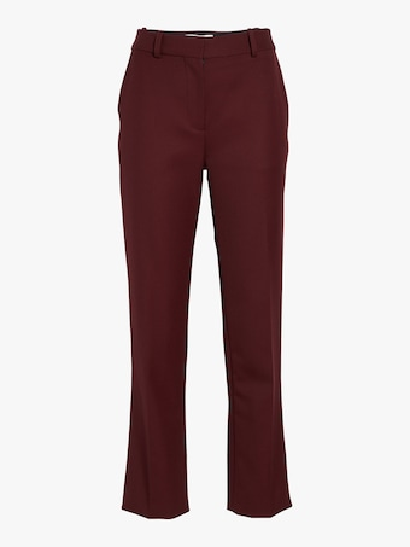 Victoria Victoria Beckham Wool Twill Straight Leg Pant 1