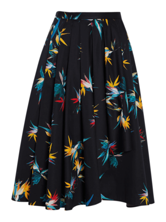 Cotton Poplin Cascade Skirt