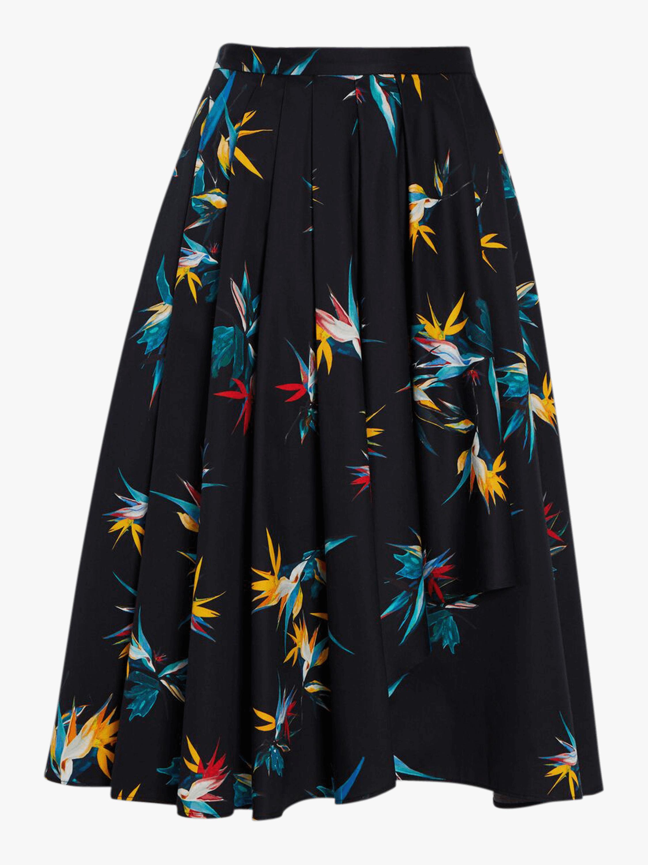 Cotton Poplin Cascade Skirt