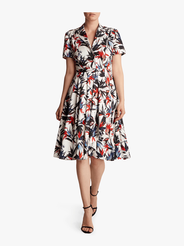 Printed Poplin Short Sleeve Dress
