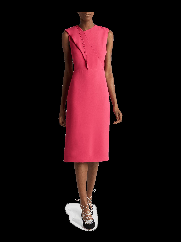 Twist Flounce Crepe Dress