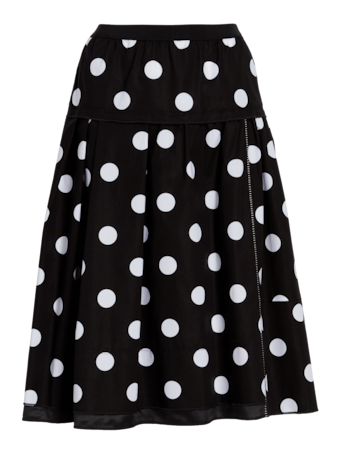 Polka Dot Cotton Stretch Skirt