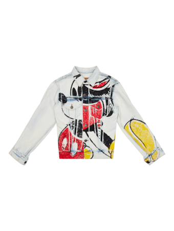 Printed Mickey Denim Jacket