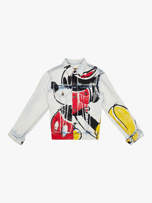 Printed Mickey Denim Jacket