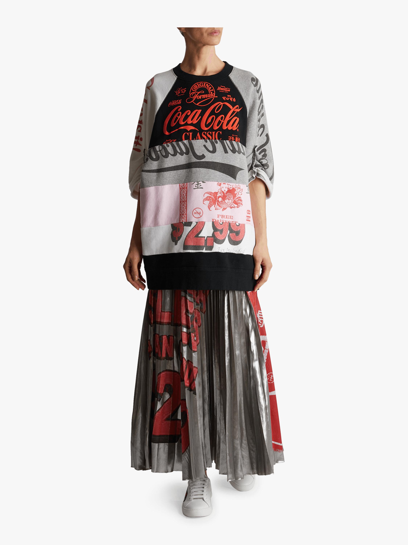 Colorblock Printed Sweatshirt Dress