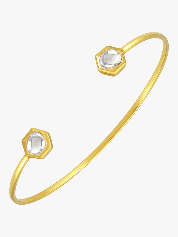 Kundan Vintage Diamond Hexagon Cuff